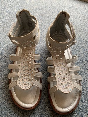 Sandales confort beige clair