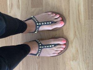 Sandalen Michael Kors 36 dunkelblau mit goldenen Nieten