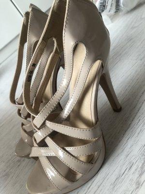 Sandalen mit Absatz Beige Nude