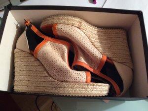 Marc Cain Plateauzool sandalen oranje-room