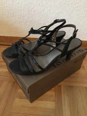 Sandalen mit Absatz in schwarz