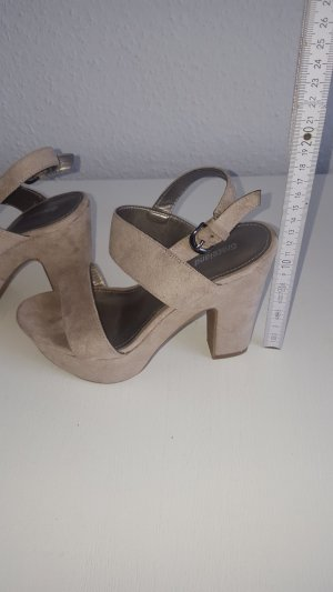 Graceland Plateauzool sandalen beige