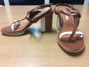 & other stories Platform Sandals white-light brown leather