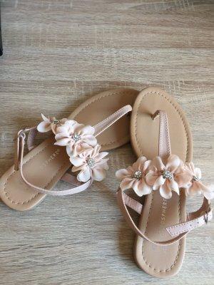 Sandalias con talón descubierto nude-rosa