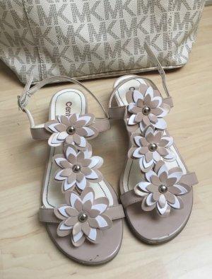 Sandalias de tiras crema-rosa