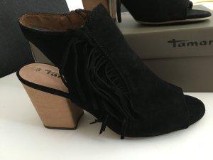 Sandalen mit Fransen, neu