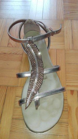 Sandalen mit Glitzer Feder