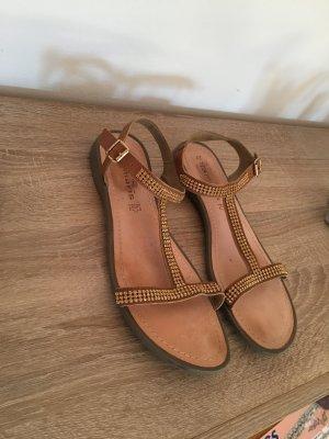 Sandalen mit Glitzersteinchen