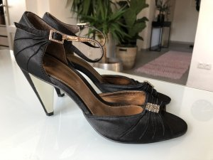 Alessandro Bonciolini Strapped High-Heeled Sandals black-sand brown