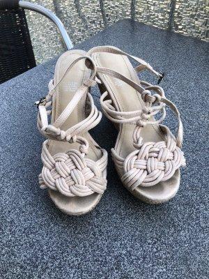 H&M Plateauzool Sandalen met Hoge Hakken rosé-licht beige