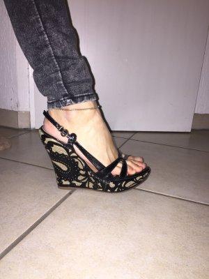 Platform Sandals black-beige
