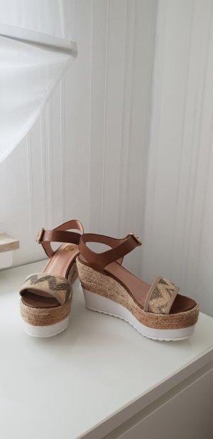 Tom Tailor Denim Platform High-Heeled Sandal multicolored
