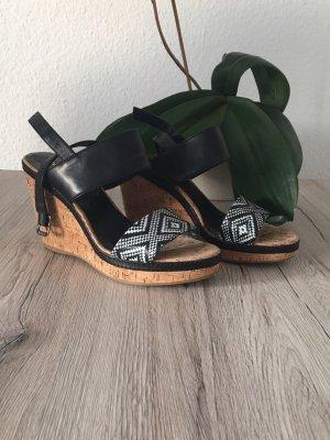 Sandalen mit Keilabsatz, Korkobtik