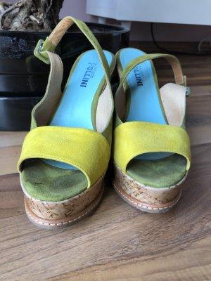 Studio pollini Wedge Pumps green-yellow