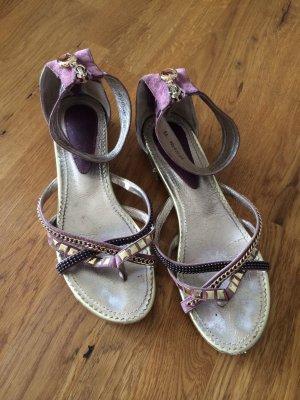 Sandalen mit Knöchelriemchen_Gr.39_Wildleder_sehr gepflegt