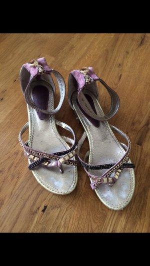 Strapped High-Heeled Sandals blue violet