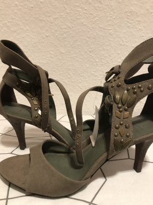 Esprit High-Heeled Sandals khaki-olive green