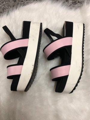 Zara Plateauzool sandalen veelkleurig