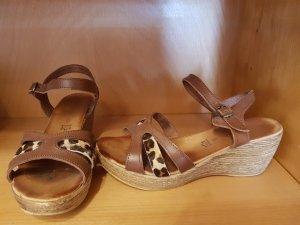 Sandalen mit Plateau Gr.38 braun-leo
