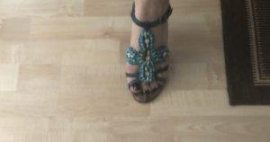 Sandalias cómodas azul bebé-azul pálido