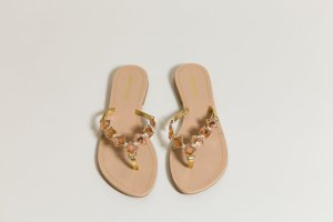 Toe-Post sandals salmon-gold-colored synthetic