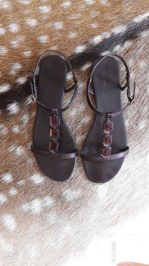 Sandalen mit Schmucksteinen von H&M, Gr 38