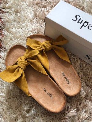 Comfortabele sandalen zandig bruin