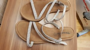 Tamaris Comfort Sandals white-silver-colored