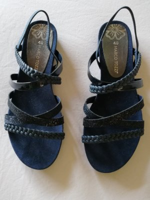 Marco Tozzi Sandalias de tiras azul oscuro Cuero
