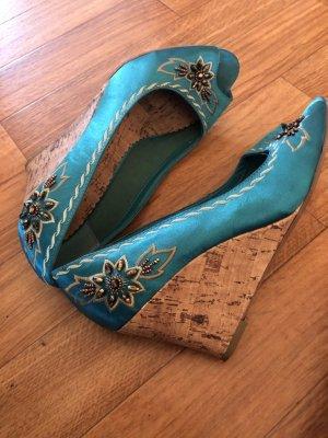 Sandalias cómodas petróleo-azul cadete