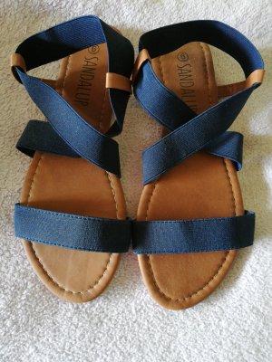 Sandalias romanas azul oscuro