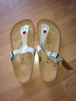 Sandalo toe-post rosa-crema