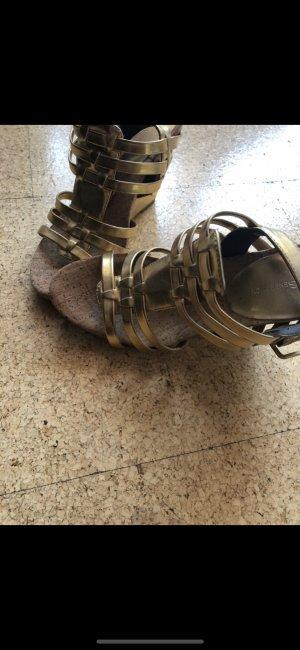 Görtz Shoes Platform High-Heeled Sandal gold-colored