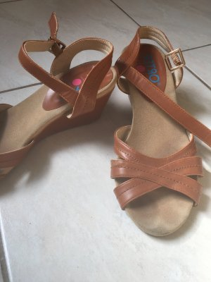 Comfort Sandals cognac-coloured