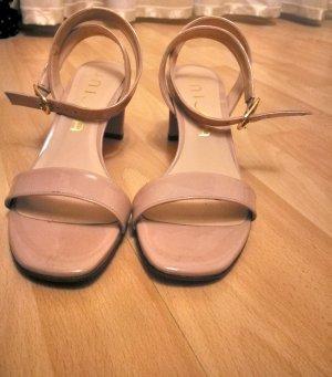 Unisa Tacones sin talón color rosa dorado-nude