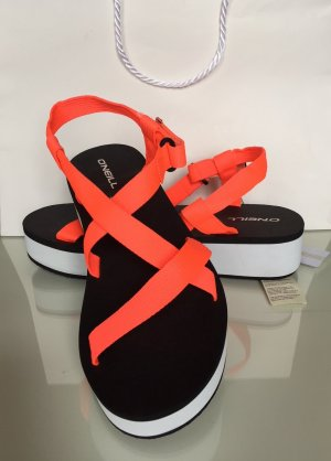 ONEILL Comfort Sandals white-neon orange mixture fibre
