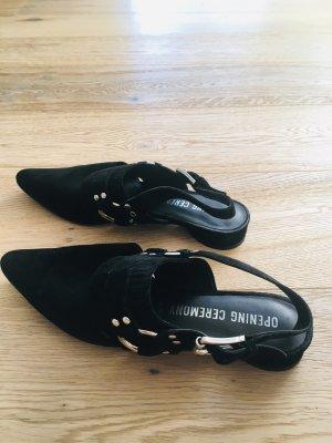 Opening Ceremony Comfort Sandals black suede