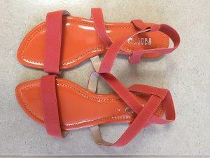 Sandalo Dianette arancio neon