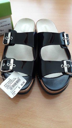 Sandalen, Pantoletten in Gr. 3,5 (36,5) mit rausnehmbaren Fußbett