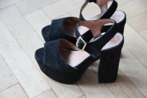 Sandalen  Partyschuhe Leder schwarz von Topshop 37