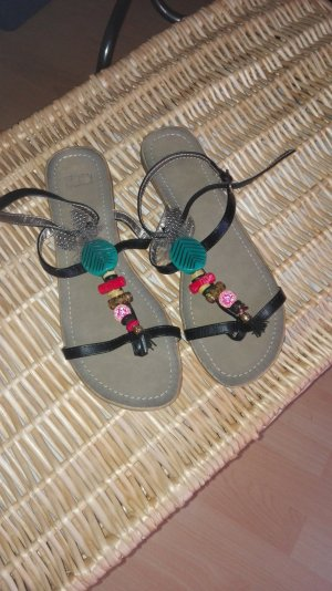 Sandalen Perlen und Federn 39