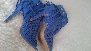 Peep Toe Pumps neon blue