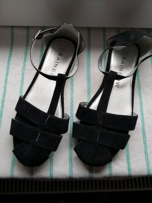 Rainbow Strapped Sandals black-white