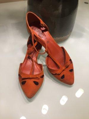 Sandalen Rauhleder orange