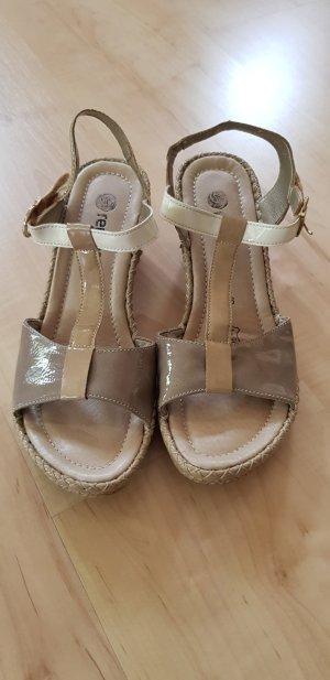 Sandalen Remonte, beige Lack, Größe 38, NEU!