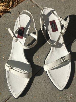 Sandalen, Riemchen-Sandalen, Cox, Weiß, Größe 41, Nagelneu