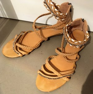 Roman Sandals sand brown-natural white