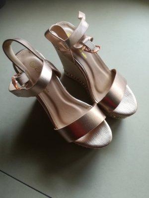 Platform High-Heeled Sandal rose-gold-coloured
