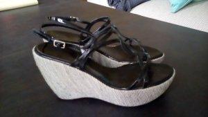 Sandalen Sandaletten 37 Schwarz