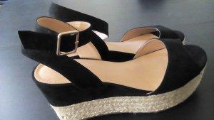 Sandalen Sandaletten 37 Schwarz Neuwertig
